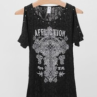 Affliction Olive Top