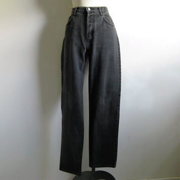 Vintage 80s Guess Mens Jeans Black 1980s Cotton Denim Jean Pants 33