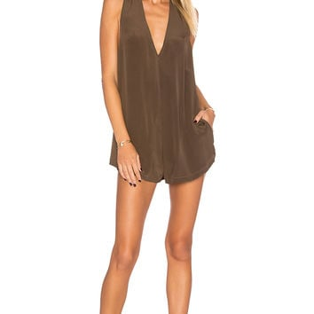 Acacia Swimwear Haiku Silk Romper in Opihi