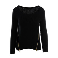 INC Womens Knit Zipper Pullover Sweater
