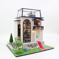 Handmade Doll House Furniture Miniatura Diy Doll Houses Miniature Dollhouse Wooden Toys For Children Grownups Birthday Gift 3837