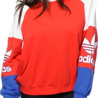 adidas Colorblock Crew Neck Sweatshirt