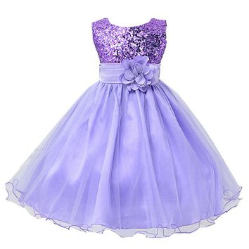 gcl Girls Sequins Princess Dress Girls Tutu Dress Kids Infant Party And Wedding Dresses Teenagers Children wedding communion