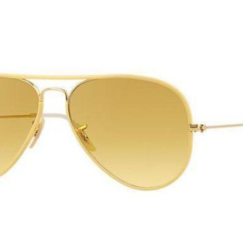 UCANUJ3V Ray Ban Aviator Sunglass Yellow RB 3025-J-M 001/X4