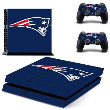 NFL New England Patriots PS4 Skin Sticker Decal Vinyl For Sony PS4 PlayStation 4 Console and 2 Controller Stickers