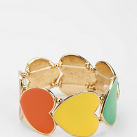 Urban Outfitters - Chain Of Hearts Stretch Bracelet