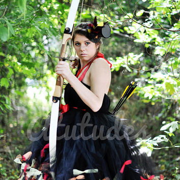 Katniss Everdeen Girl On Fire Tutu Dress inspired by The Hunger Games Movie JUNIORS 1-5