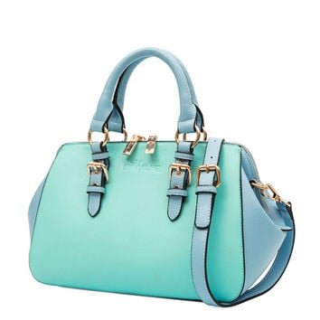 Colorful Buckle Handbag Tote Shoulder Bag