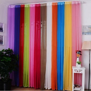 Hot Valances Colors Floral Tulle Voile Door Window Curtain Drape Panel Sheer WIZH