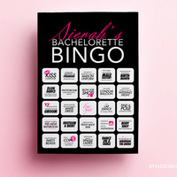 Bachelorette Bingo - Bachelorette Party Game, Bachelorette Game A Girls night out game for the Bachelorette Weekend - PERSONALIZED