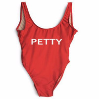 PETTY High Cut One Piece Swimsuit