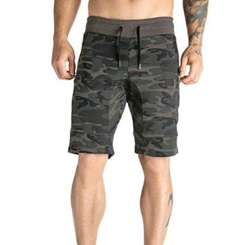 TOOPOOT Summer Men Sweatpants,Cargo Work Trousers Jogger Basic Sportwear Jogging Camouflage Shorts Pants