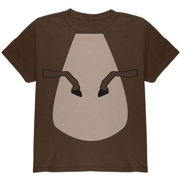 LMFCY8 Halloween Horse Costume Brown Pony Youth T Shirt
