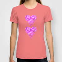 two sparkling hearts (in purple) T-shirt by Marianna Tankelevich