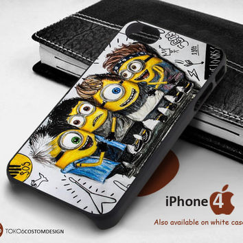 Minion 5 Sos Pencil Art for iPhone 4/4S, iPhone 5/5S, iPhone 6, iPod 4, iPod 5, Samsung Galaxy Note 3, Galaxy Note 4, Galaxy S3, Galaxy S4, Galaxy S5, Galaxy S6, Phone Case