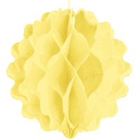 Yellow - Bridal Shower Honeycomb Ball Decorations
