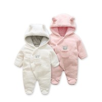 Fashion 2018 spring baby coat Lamb Cashmere baby pajamas for newborn costume twins new born baby clothes , infant girl clothing