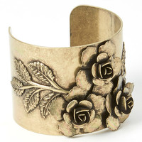 Antique Gold Three Rose Cuff | zulily