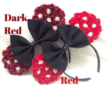 Red Floral Mouse Ears