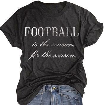 Football season pride T-shirt for women