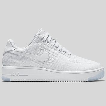 AUGUAU Nike Wmns Air Force 1 Flyknit Low Triple White