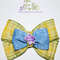 Ellie Hair Bow by MickeyWaffles on Etsy