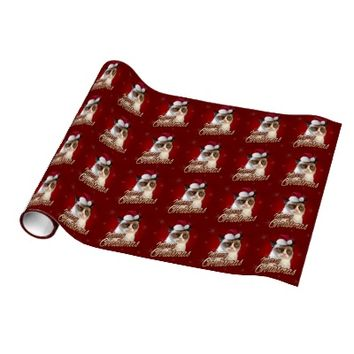 Grumpy Cat Merry Christmas Wrapping Paper