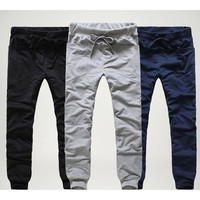 Pantalon Homme Men Joggers Cargo Drawstring Sweatpants Trousers Pencil Pants Male Pants pantalones hombre HO869112