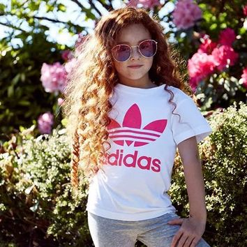 ADIDAS Children Boy Girl Casual Print Shirt Top Tee