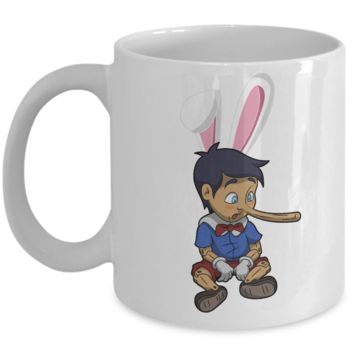 Pinocchio Grimm Easter Bunny Ear Mug Cup For Children Parents Funny Kids Gifts For Holidays 2017 2018 Color Pencil Holder Chocolate Egg Jar Gift Surprise Cool Gift For Easter 2017 2018