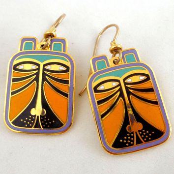 "Vintage LAUREL BURCH ""Toshio"" Enamel Earrings"