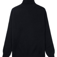 ami Black Turtleneck Knitted Sweater | HYPEBEAST Store.