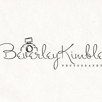 Premade Photography logo design - logo Watermark sketched camera logo. Instant download digital download psd file