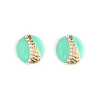 Pastel Drop Stud Earrings: Charlotte Russe