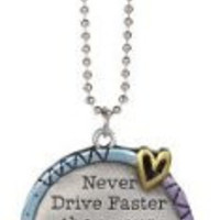 Ganz Color Art Car Charms Never Drive Faster Than Your Guardian Angel Can Fly