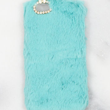 Mint Fuzzy iPhone Case