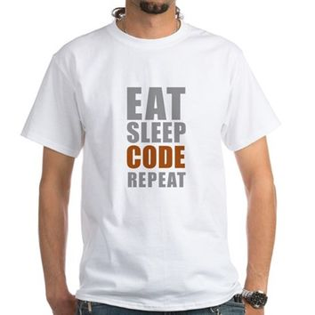 Eat sleep code repeat Men's Classic T-Shirts