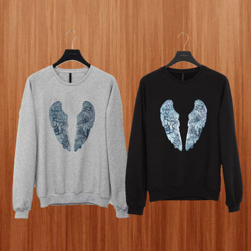Coldplay Wing sweater Black/Gray/Blue/Orange/Red/Yellow Sweatshirt Crewneck Men or Women Unisex Size