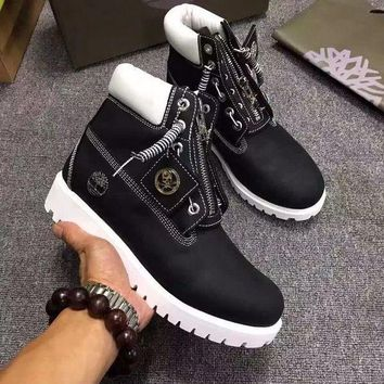 Timberland Rhubarb Boots Mastermind Japan Black For Women Men Shoes Waterproof Martin Boots