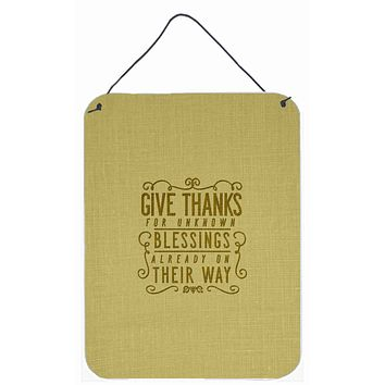 Give Thanks Blessings Wall or Door Hanging Prints BB5457DS1216