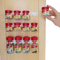 Evelots Multi-Use Spice Gripper Clip Strips,Set Of 3 Or 6, Holds 12 Or 24 Spices