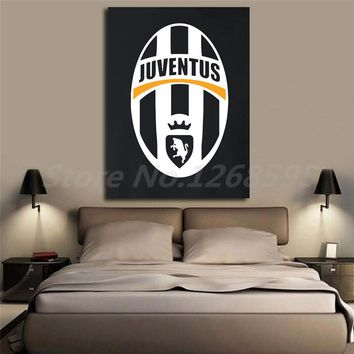 Juventus New Logo Wallpapers Wall Art Canvas Posters Prints Painting Wall Pictures Artwork For Office Living Room Home Decor