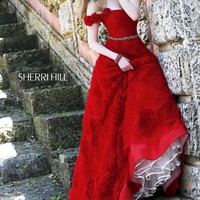 Sherri Hill 21361 Rosette Ball Gown Prom Dress