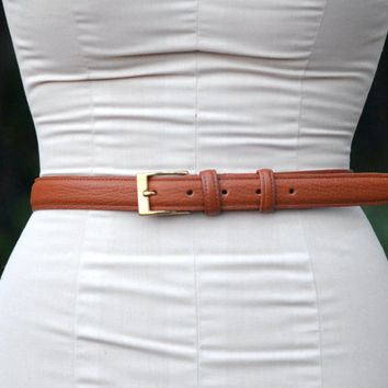 Vintage Dooney & Bourke London Tan Leather Belt