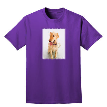 Golden Retriever Watercolor Adult Dark T-Shirt