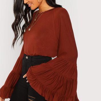 San Pedro Tiered Bell Sleeve Blouse