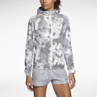 Nike Printed Distance Women's Running Jacket - White