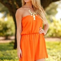 Sweet Talker Orange Playsuit