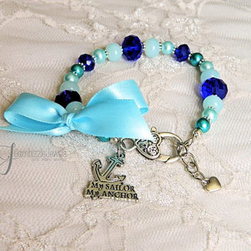 my sailor my anchor, navy wife gifts, anchor bracelet, navy wife jewelry, navy anchor bracelet, USN bracelet, navy gifts