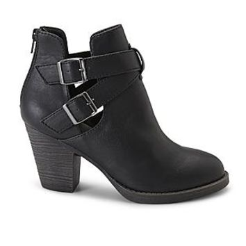 Route 66 Women's Black Erin Synthetic Leather Ankle Boot